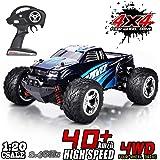 MaxTronic RC Voitures, RC Crawler Racing Véhicule Camion 2.4Ghz 4WD Haute Vitesse 1:20 Radio Télécommande Buggy Électrique Course Rapide Hobby (Bleu)
