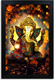 Home Attire HAP-1118 God Ganesha Painting, 12x18 inch