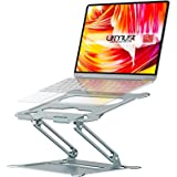 Urmust Laptop Notebook Stand Holder, Ergonomic Adjustable Ultrabook Stand Riser Portable with Heat-Vent Compatible with MacBo