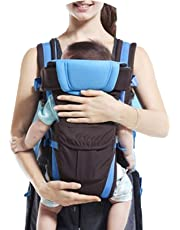 My NewBorn Baby 4 in 1 Carry Bag Backpack Sling Back and Front Position Carrier (Blue)