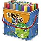 Bic Kids Rotuladores Lavables para Niños, Óptimo para material escolar,Visacolor XL, Punta Gruesa, Con Etiqueta Ecológica, Ca