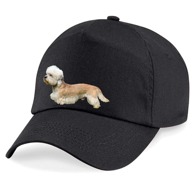 Taurus Clothing Dandie Dinmont Terrier Dog Personalised Embroidered Cap Black
