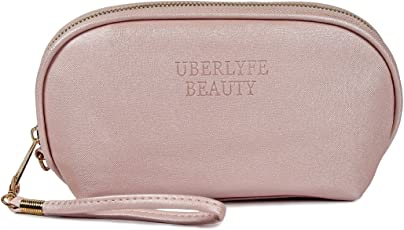 UberLyfe Travel Cosmetic Pouch Makeup Pouch Perfect for Carrying Makeup Kit/Makeup/ Lip pencils/Makeup Brushes/Cosmetics Pouch for Women & Girls (PU-001705-PK-S)