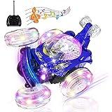 Macchina Telecomandata, UTTORA Auto Telecomandata con 360 Rotazione RC Auto con Musica e luci a LED Ideale Regalo Giocattolo