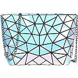 Hot One Geometrische Umhängetasche Kette Umhängetaschen für Damen, Damenhandtaschen (#5 Laser)