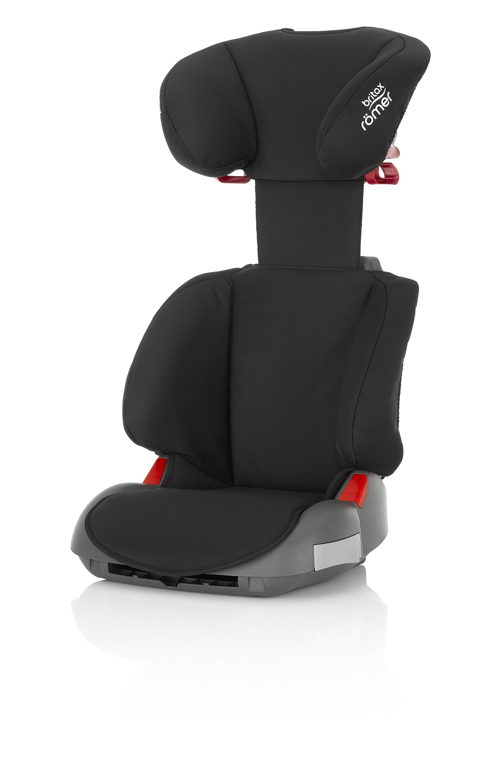 Britax Römer ADVENTURE Group 2-3 (15-36kg) Car Seat - Cosmos Black Britax Römer Intuitively positioned seat belt guides for straightforward installation every time. Machine washable seat cover that can easily be removed, so you can clean up quick and get on your way Reassurance of highback booster safety with side impact protection Lightweight, easily transferable shell 5