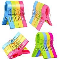 Cloth Clips for Drying Clothes Plastic Clips Big Size Plastic Pegs for Hanging Drying Clothing on Strings Multipupose…