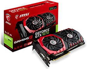MSI NVIDIA GTX 1070 Gaming X 8G Grafikkarte (HDMI, DP, DL-DVI-D, 2 Slot Afterburner OC, VR Ready, 4K-optimiert)