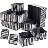 Evance 10Pcs Boîtes de Rangement Ouvertes en Textile Non-Tissé, Tiroir en Tissu,Cube de Rangement Pliable Coffre pour…