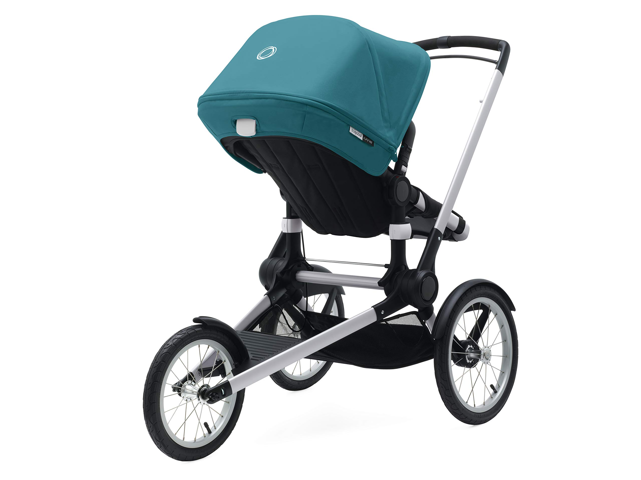 Bugaboo Runner Complete Pushchair, Black/Petrol Blue Bugaboo  4