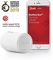 Danfoss 014G1101 Eco Home Electronic Radiator Thermostat with Bluetooth Function; Electronic, programmable thermostat as...