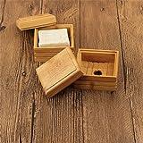 LouisaYork Cajas de jabón, jaboneras de madera con tapas, 2 jaboneras de bambú natural para cocina, baño
