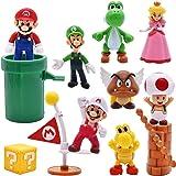 10 pcs/Set Super Mario Toys - Figuras de Mario y Luigi Figuras de acción de Yoshi y Mario Bros Figuras de Juguete de PVC de M