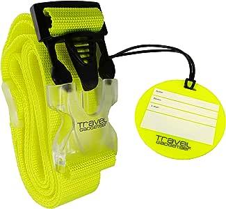 Cinghia per bagagli + targhetta abbinata. I colori brillanti aiutano a identificare facilmente il vostro bagaglio. One Size N9000 Iii