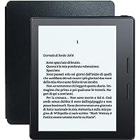 """E-reader Kindle Oasis con custodia-caricatore in pelle nera, schermo da 6"""" ad alta risoluzione (300 ppi) con luce integrata, 3G gratuito + Wi-Fi"""
