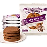 Feel Mighty Low Carb Protein Cookies-Sugar Free, Keto Friendly, Gluten Free & Low Calorie Snacks -Pack of 5 Belgian…