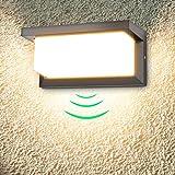 18W Applique da Esterno LED Lampada da Parete Impermeabile IP65 per Balcone, Giardino, Veranda, Via, Garage, Nero, Bianco Cal