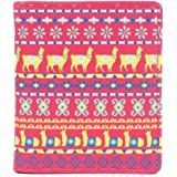 Chumbak Aztec Llama Pink Snap Button Wallet