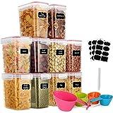 GoMaihe 1.6L Boite de Rangement Cuisine Lot de 10, Bocaux Hermetiques Alimentaires en Plastique Scellée avec Couvercle, pour