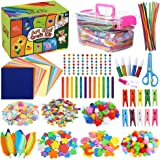 Caydo Arts and Crafts Supplies for Kids- Over 1000 Pieces of Colorful and Creative Arts and Crafts Materials, Includes…