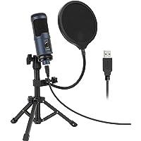 OMOTON Microfono per PC USB a condensatore, Microfono Professionale per Registrazione, Streaming, Gaming, Podcast…