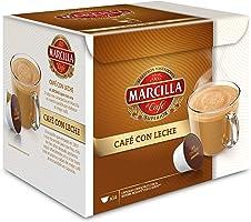 MARCILLA Café con Leche - cápsulas compatibles con las cafeteras Nescafé(R)* Dolce Gusto(R)* | 3 paquetes de 14 cápsulas...