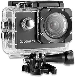 Goodmans Full Hd Action Kamera 1080p 90 Weitwinkelobjektiv Wasserdicht Sportkamera Sportscam Activecam Sport Freizeit