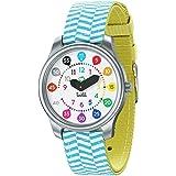 Twistiti Première Montre Pédagogique Enfant, Cadran Nombres Colorés pour Apprendre l'heure, Étanche 50M, Bracelets Interchang