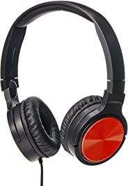 AmazonBasics Lightweight On-Ear Headphones - Red