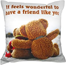 Natali Friendship Gift for Best Friend Cushion Cover with Filler 12 X 12 Inches