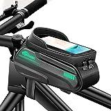 toptrek Fahrradtasche Rahmen Wasserdicht Handytasche Fahrrad Fluoreszierendes Design Rahmentasche Fahrrad mit TPU Touchscreen
