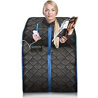 Sauna Infrarouge et Portable SereneLife   Spa à Domicile pour une Personne   Idéal pour la Désintoxication et la Perte de Poids (Couleur : Noir)