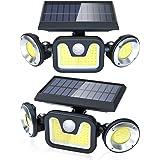 Luz Solar Exterior Lámpara Impermeable 83LED-450lumen, Ltteny 2-Paquete Focos Led Exterior Solares de Movimiento Gran Ángulo