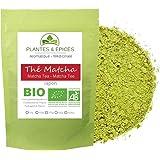 Plantes et Épices - 100G Thé vert Matcha japonais BIO, en poudre 100% Naturel, 50 Infusions Biologique 100g