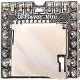 Haljia Dfplayer Mini lecteur MP3module 24bits DAC Sortie de connecter directement au Haut-parleur, carte TF, pour Arduino Raspberry Pi, etc.