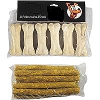 Dog Bone (3-inch x 6 Pcs) + 120 GMS Chicken Stick