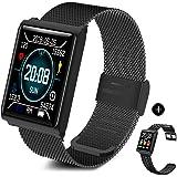 TECKEPIC N98 Montre Connectée Smartwatch Bracelet Connecté Trackers d'activité Podomètre Distance Calories Cardiofréquencemètre iPhone Samsung Android iOS Smartphone