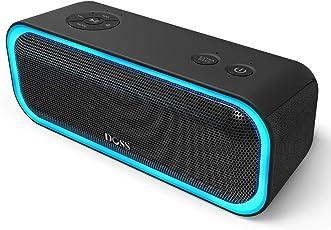 DOSS SoundBox Pro Bluetooth 4.2 Lautsprecher 20W Lautsprecherbox mit Dual-Treiber Besserem Bass Stereo Pairing Vielfarbige LED-Lichter 12 St Spieldauer für iPhone iPad Echo Dot und andere Android Geräte 【Schwarz】