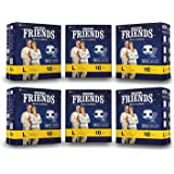 """FRIENDS Overnight High Absorbency Adult Diapers With Wetness Indicator Large Waist Size (38""""- 60"""" Inch) 60 Pcs"""