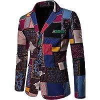 Pingtr Men's Personality Retro Business Jacket Classic Blazer Coat Slim Fit Wedding Dinner Tuxedo Blazer Jacket…