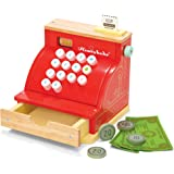 Le Toy Van - Wooden Honeybake Toy Cash Register | Role Play Toy | With Receipt, Opening Till Drawer And Play Money | Perfect