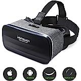 HAMSWAN 3D VR Brille für Handy, Video Movie Game Brille Virtuelle Realität Headset Kompatibel mit iOS, Android und…