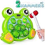 Rolimate Juego Interactivo Whack A Frog Cumpleaños 2 3 4 5 6 7 años Actividades para niños y niñas Juegos Juguete con 2 marti