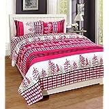 New panipat textile zone Polycotton 160 TC Bedsheet (Queen_Multicolour)