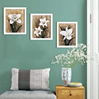 Painting Mantra Synthetic Wall Painting, White, Printed, 90 cm x 80 cm x 2 cm