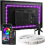 LED Strip 3m, Enteenly LED TV Hintergrundbeleuchtung geeignet für 40-55 Zoll Fernseher und PC, App-Steuerung und Fernbedienun