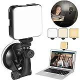 Video Conference Verlichting Kit, Oplaadbaar Licht voor Laptop MacBook met zuignap, LED Licht voor Zoom Call Meeting, Remote