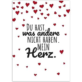 Postkarte Lieber Spruch Mit Herzen Moderne Karte Mit Umschlag