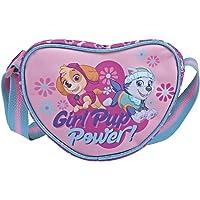 PERLETTI Paw Patrol Herztasche für Mädchen - Rosa Schultertasche für Kleinkind 3 4 5 6 Jahre - Kinder Handtasche Pink…