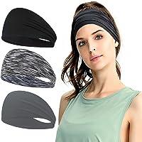 TAGVO Sports Headband,3 Pcs Headband Sweat Wicking Hair Bands,Moisture Wicking Workout Head Band Sweatband,Sports…